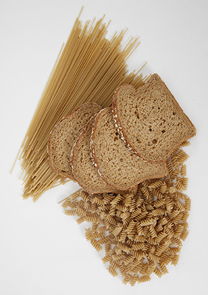 Foods containing wheat.